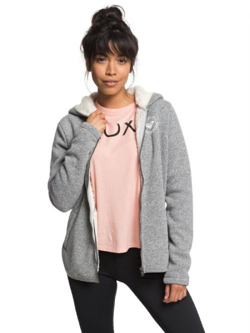 ROXY WOMENS SHERPA HOODIE.SUPER COST FLEECE ZIPPED ZIP HOODY HOODED TOP 8W 7 KTA